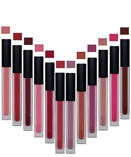 The Guru Shop Liquid Matte Lipstick Lip Gloss Lip Stick makeup Long Lasting (Assorted Color, 3 Pcs)