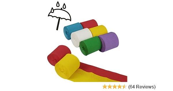 Unbekannt 6 Krepp-Bänder 10 m x 5 cm farbig sortiert wasserfest ...