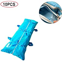 KTops 10PCS Abrigo del Cuerpo Bolsa, Bolsa de plástico desechable Muerto Espesado de Protección Ambiental de Material de PVC, Impermeable y procesados asépticamente a Prueba de Fugas Body Bag