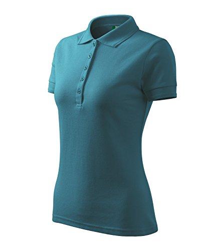 9e402f4f86ab Poloshirt Polohemd für Damen Pique Polo von Adler - Größe und Farbe wählbar  - Dunkel Türkis