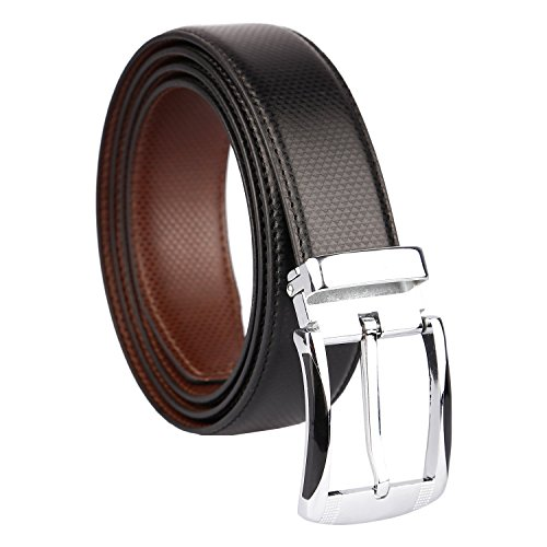 Amicraft Boy\'s Casual & Formal PU Leather Reversible Belt Black/Brown (Size 28-44 Cut to fit men\'s Belt)