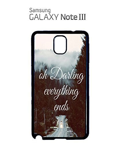 Oh Darling Everthing Ends Love Mobile Phone Case Back Cover Coque Housse Etui Noir Blanc pour for Samsung Galaxy S5 Black Noir