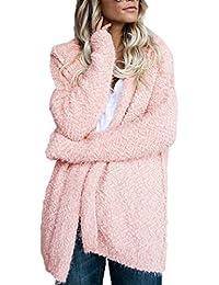 d72bb337f44c45 Autunno Inverno Donne Cardigan con Cappuccio Casual Hoodie Giacche Sweater  Coat Tops Pullover Moda Manica Lunga