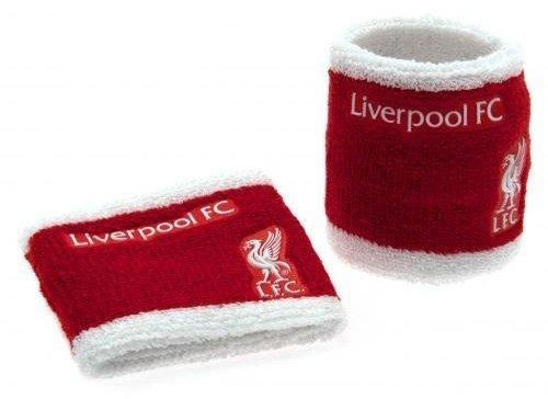 Liverpool FC Schweißband/sweatbands- wristbands--set: elastisch und in einer Einheitsgröße, die all ca. 7 cm breit auf einer Kopfzeile Grußkarte, offizielles Lizenzprodukt