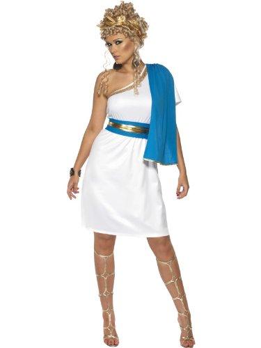Smiffys Römerin Kostüm, Größe L (Toga Kostüme Mit Blättern)