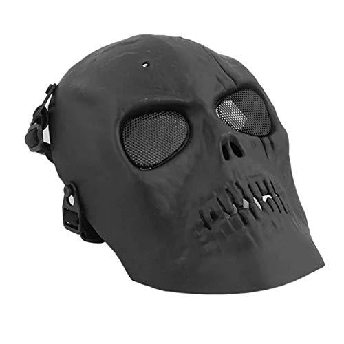 Delicacydex Skull Skeleton Mask CS Masque Airsoft Paintball BB Pistolet  Protection intégrale Masque de Protection du Visage Casques Shot avec ... c9511714c332