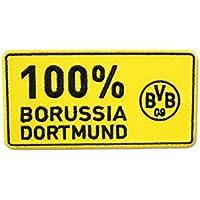 """Borussia Dortmund BVB Aufnäher 100%"""", Polyester, Schwarz/Gelb, 10 x 4.2 x 1 cm"""
