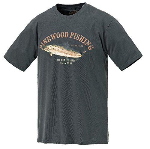 Pinewood T-Shirt Salmon anthrazit Gr. XL