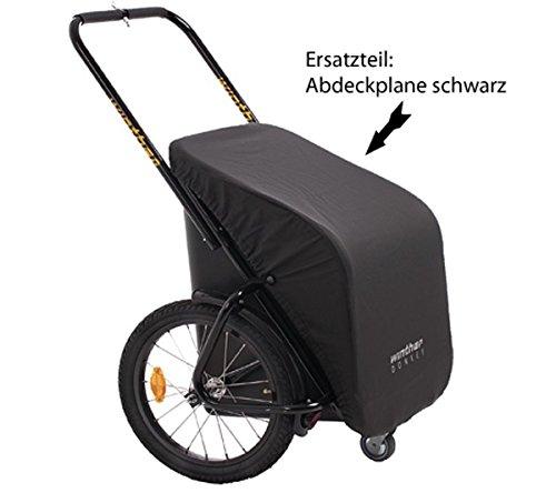 Preisvergleich Produktbild Plane für Donkey Classic / Ersatzteil für den Fahrradanhänger von Winther / Farbe:schwarz (Lieferung ohne Donkey Classic)