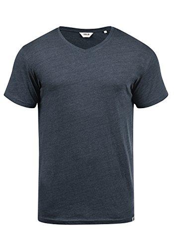 !Solid Bedo Herren T-Shirt Kurzarm Shirt Mit V-Ausschnitt Aus 100% Baumwolle, Größe:M, Farbe:Insignia Blue Melange (8991) -