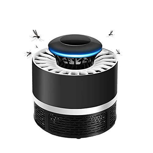 TDW Anti Mosquito, Lámpara Led Atrapa Mosquitos USB Mata Mosquitos Electrico (Negro)