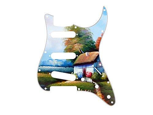 borderlands-pg4154-pickguard-de-remplacement-pour-guitare-stratocaster-s-s-s-4-plis-11-trous-motif-c