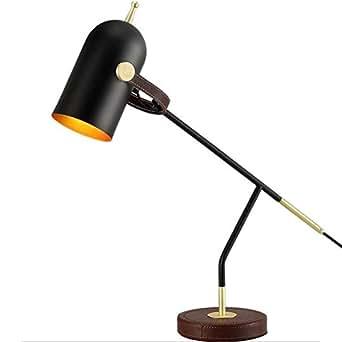h m schreibtischlampe e27 nachttischlampe nordic postmodern einfachheit einstellbare schwarz. Black Bedroom Furniture Sets. Home Design Ideas