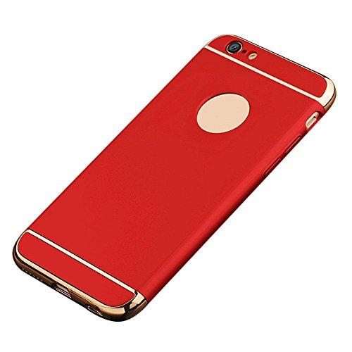 Matt Roter Oberfläche (IPhone 6s/6 Hülle, 3 in 1 Ultra Dünner Harter Anti-Kratzer Stoßfestes Elektrodengestell mit Beschichteter Oberfläche Ausgezeichneter Griff-Fall für Apple IPhone 6s/6)