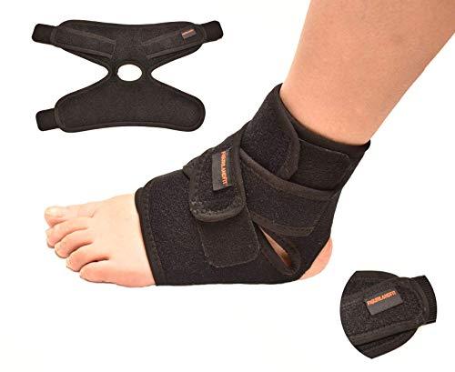 Tobillera de neopreno para apoyar y estabilizar el tobillo, útil para aliviar el dolor de la artritis, para la rehabilitación de lesiones deportivas y para evitar futuras posibles lesiones.