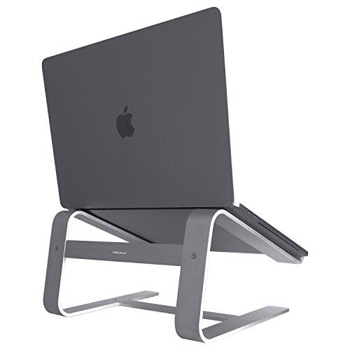Macally astand Aluminium Laptop Ständer für Apple MacBook, MacBook Air, MacBook Pro und jedem Notebook zwischen 25,4cm zu 43,2cm grau grau - Space Gray