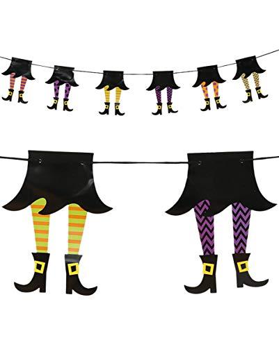 Horror-Shop Lustige Hexen Girlande als Halloween Dekoration | 210cm (Dies Ist Halloween Klassischer Horror)