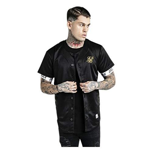 Camisa Siksilk de Béisbol Negro y Oro