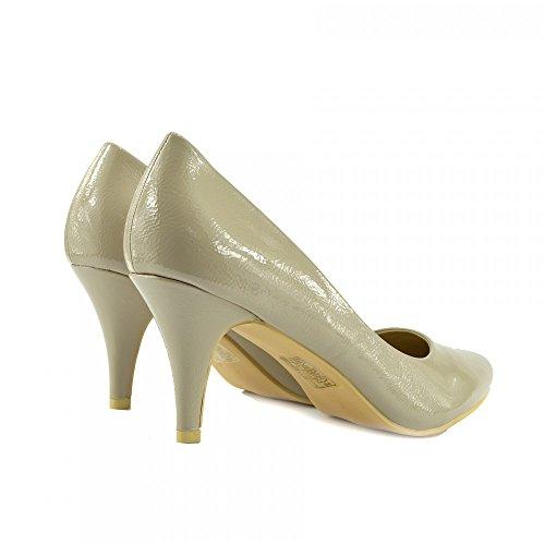 Kick Footwear - Donna Classic Kitten Heel Per L'Ufficio, Da Sera Nero Scarpe Nudo
