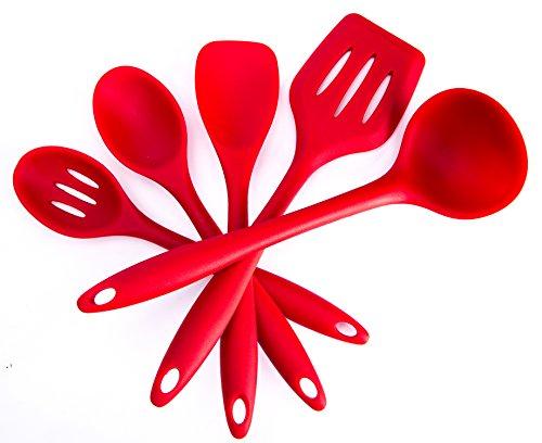 Bekith Silikon Küchenhelfer 5-teilig, rot
