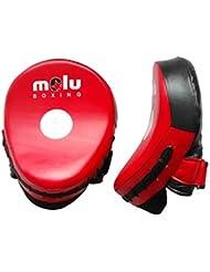 MoluBoxing - Manopla curva profesional mini, tamano: 27x18x20, talla: , color: Rojo/Negro