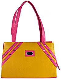 SPERO ™ Women's Stylish Zip Lock Casual Yellow Handbag With Free Shipping