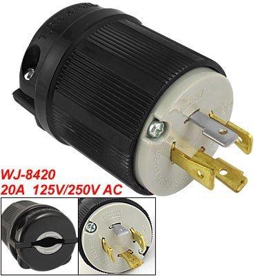 AC 250V 125V 20A Nema L14-20P 4-polige Twist Lock mannelijke connector vervanging (Nema Twist)