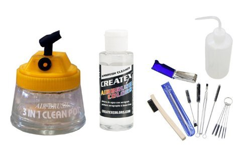 Airbursh Cleaning Kit with Airbursh Cleaning Solution, Cleaning Pot, and Cleaning Tools by Master Airbrush