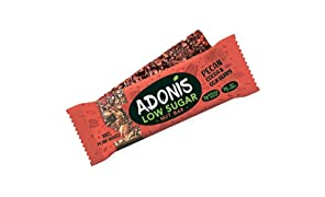 Adonis Low Sugar Crunchy Pecan Snack Bars   100% Natural, Low Carb, Vegan, Gluten Free, Keto, Paleo (5)