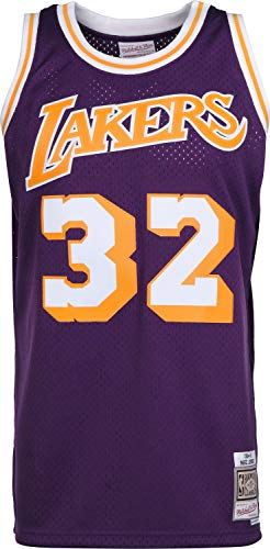 Mitchell & Ness NBA Los Angeles Lakers Magic Johnson Purple 1984-85 Swingman Jersey Small