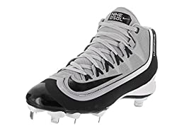 Nike Mens Huarache 2KFilth Pro Mid Wolf Grey/Black/Anthrct/White Baseball Cleat 8. 5 Men US