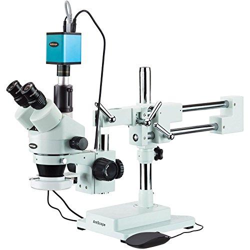 amscope 3,5x-90x Trinokular Stereo Mikroskop mit 144-led Ring Licht und Autofokus Kamera