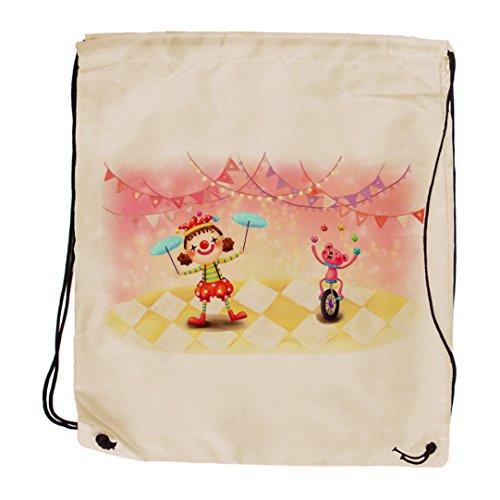 "My Custom Style® Sack Tasche Rucksack Schultertasche Typ: ""Magic CIRCUS. Abmess"