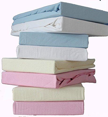 DuDu N Girlie Baumwolle Jersey Mini Spannbetttuch für Kinderbett, 100cm x 50cm, pink