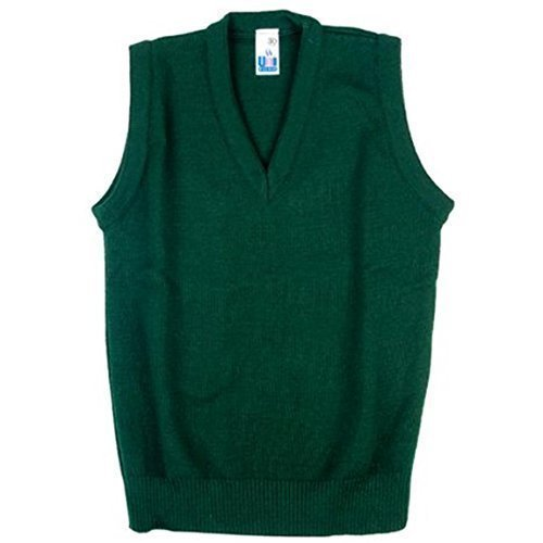 Boys Girls School Uniform Tank Top Sleeveless Jumper Green Size 2-3yrs