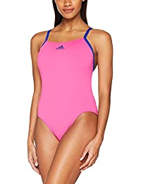 adidas Pro Light Solid Swimsuit, Mujer, Rosa (Rosimp/Azul Oscuro), 42