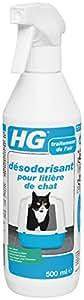 HG Désodorisant pour Litière de Chat 500 ml - Lot de 2