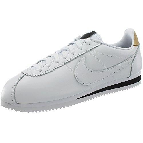 Nike Schuhe – Classic Cortez Leather Se weiß/schwarz/creme Größe: 45.5 (Nike Weiß Cortez Schwarz)