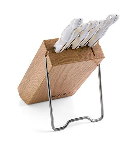 CUTCO Platzspar-Set in Eichenholzblock (weiß) - Cutco Weiß Küchenmesser