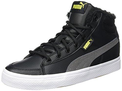 Puma Unisex-Kinder 1948 Mid Vulc Winter Jr Hohe Sneaker, Schwarz (Black-Steel Gray), 36 EU (Puma Kinder Schuhe)