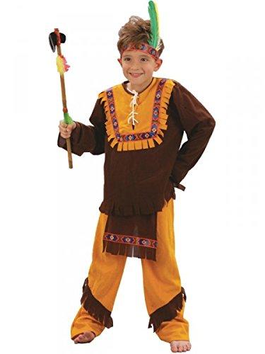 Indianerkostüm Häuptlingskostüm Kindekostüm Indianer, Größe:140 (Stamm Karneval Kostüme 2017)