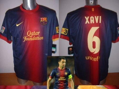 Barcelona Xavi Nike BNWT Erwachsene XL Spanien Fußball Shirt Trikot Pullover Maglia (Spanien Fußball-team-jersey)