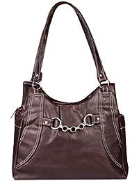 15137: Howdy Women Leather Handbags (Brown)