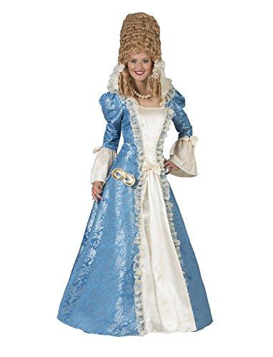 Kostüm Madame Francesca Damen Rokoko Barock Gräfin Größe 44/46 Kleid Renaissance blau weiß Adel...