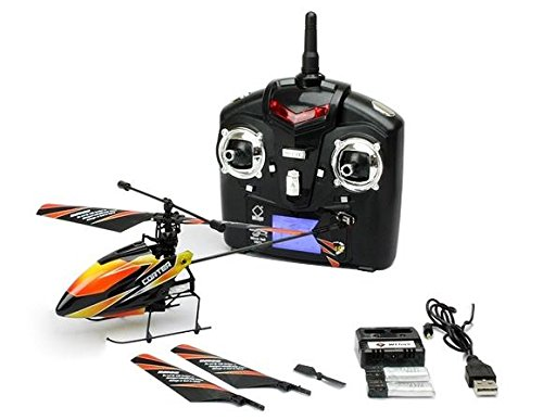"RC WL Toys ""V911\"" 2.4 GHz 4-Kanal Single Blade Mini RC Helikopter / Hubschrauber RTF mit Gyroscope Technologie / FARBLICH SORTIERT"