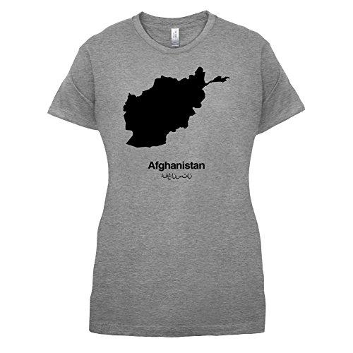 Afghanistan / Islamische Republik Afghanistan Silhouette - Damen T-Shirt - 14 Farben Sportlich Grau