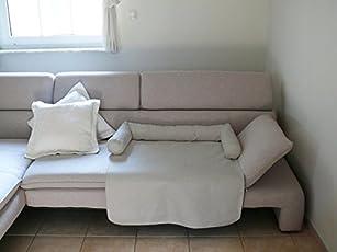 MILA Schlafplatz Hundebett Couch Sesselschutz Sofaschutz Alcantara Größen: S-XL