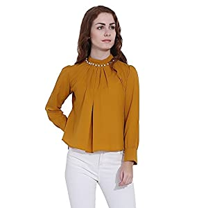 57b3a22a32fb2 THE LUGAI FASHION Cotton Womens Tunic Short Top for Daily Stylish ...