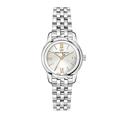 Philip Watch Women's Watch, Anniversary Collection, Quartz Movement, Three Hands with Date, Stainless Steel Watch - R8253150507