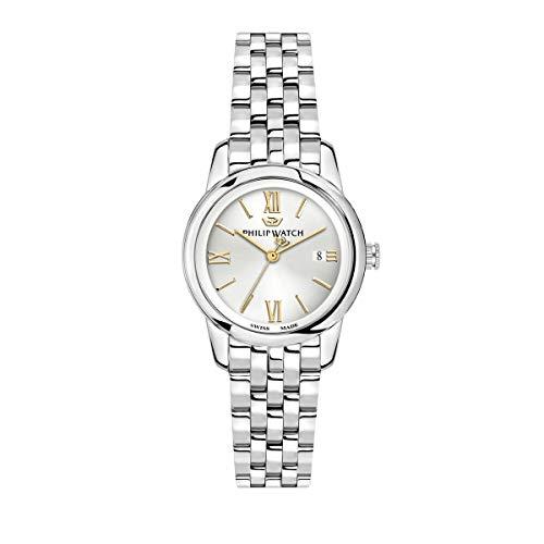 Philip Watch Orologio da donna, Collezione Anniversary, movimento al quarzo, funzione tempo e data, in acciaio - R8253150507